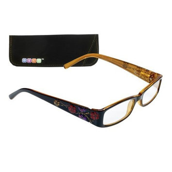 Select-A-Vision Deco Floral Frame Reading Glasses, Brown, 1.50