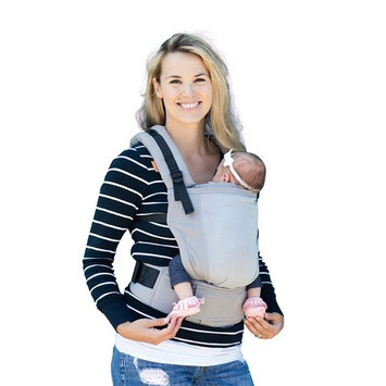 Baby Tula Free-to-Grow Coast Mesh Baby Carrier, Adjustable Newborn to Toddler Carrier, Ergonomic and Multiple Positions for 7 – 45 pounds – Coast Overcast (Light Gray with Light Gray Mesh Panel)