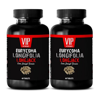 Longjack tongkat ali - EURYCOMA LONGIFOLIA - Sexual enhancer for men (2 Bottles - 120 Capsules)