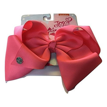 JoJo Siwa Neon Pink Signature Hair Barrette Bow, 2 Pack Set