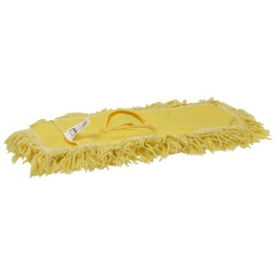 RUBBERMAID FGJ25200YL00 Dust Mop, Yellow,5 In. W,18 In. L