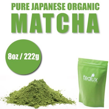 Tealyra - 220g (8-ounce) - Matcha Green Tea Powder - Culinary Grade - Pure Japanese - Superior Antioxidant Content - All Day Energy - Improved Health - Lattes - Smoothies - Baking - Organically Grown