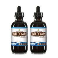 Secrets Of The Tribe Wild Yam Tincture Alcohol-FREE Extract, Organic Wild Yam (Dioscorea Villosa) Dried Root 2x4 oz