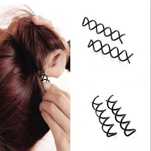 Zinnor 12 Pcs Hair Styling Accessories Kit Set Bun Maker Hair Braid Tool for Making DIY Hair Styles Black Magic Hair Twist Styling Accessories for Girls or Women