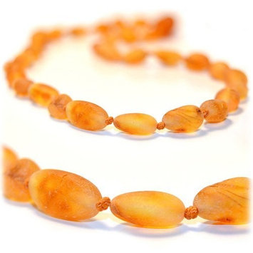 The Art of Cure Original Premium Baltic Amber Teething Necklace 12.5 inches (RAW HONEY BEAN)
