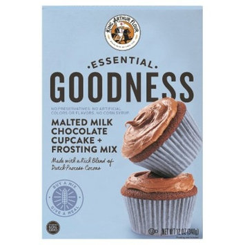 King Arthur Essential Goodness Malted Milk Chocolate Cupcake + Frosting Mix - 12oz