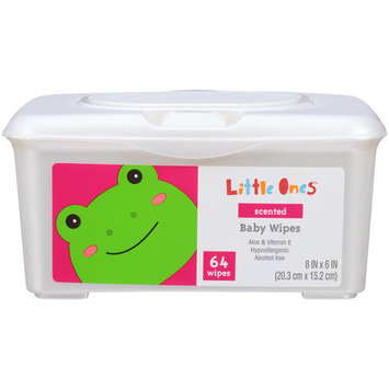 Little Ones L1 BABY WIPES SCENTE.64C 64CT TUB