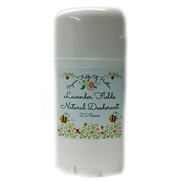 Organic Fields of Heather Fields of Lavender Organic & Natural Deodorant With Botanically Infused Ingredients, 2.5 fl. Oz