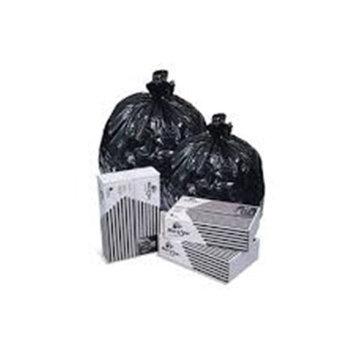 Pitt Plastics Inteplast Pitt P-S4448-K Can Liner 24 x 23, .35 Mil, Black, 500/cs Flatpack