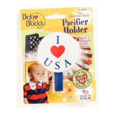 Baby Buddy American Baby Pacifier Holder Color: I Love USA