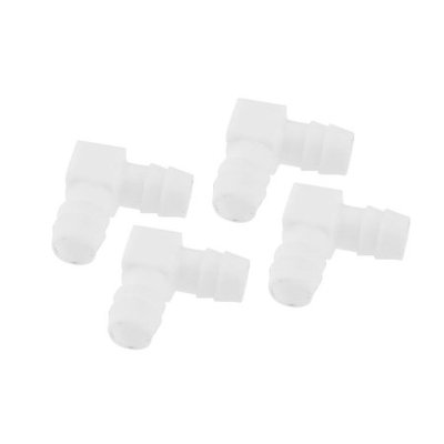 4 Pcs Fish Tank Right Angle Connector 12mm Dia for Air Line Tubing