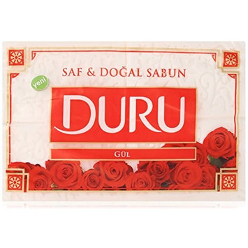 Duru Pure and Natural Bar Soap, Rose, 24.69 Ounce [Rose]