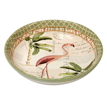 Certified International Floridian by Katie Pertiet Ceramic Serving Bowl 128oz Green