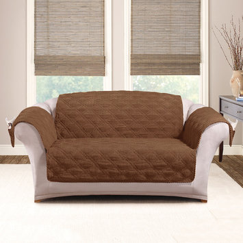 Sure Fit® Wide Wale Corduroy Furniture Cover in Graphite