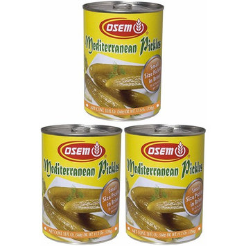 Osem Mediterranean Pickles, Kosher for Passover, Small, 18 Ounce Can