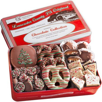 Golden State Fruit Handmade Chocolate Collection Holiday Gift Tin, 24 oz