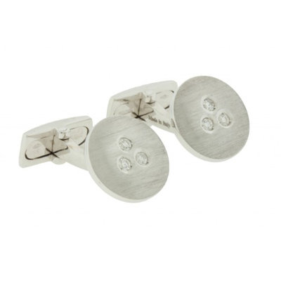 Damiani diamond cufflinks in 18k gold new with tag in box