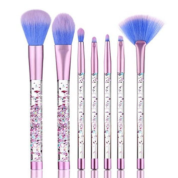 KaiCran 7PCS Make Up Foundation Eyebrow Eyeliner Blush Cosmetic Concealer Brushes