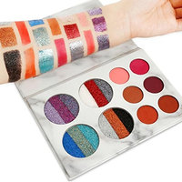 YOYORI Eyeshadow Palette Makeup Matte + Shimmer Pearlescent 10 Colors - Highly Pigmented - Professional Matte Eyeshadow Cosmetic Makeup