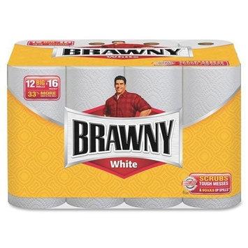 Brawny Paper Towels, White - 12 pk