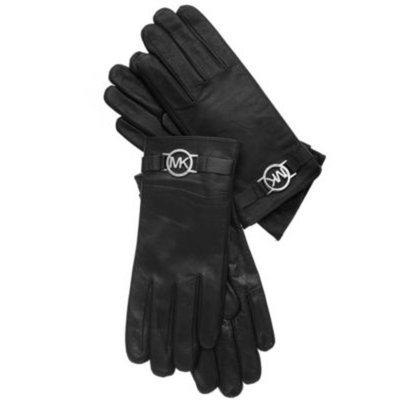 accessories MICHAEL Michael Kors Leather with Logo Gloves with Touch Tips