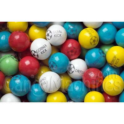 Candymachines Gumballs By The Pound - 1 Pound Bag of Soccer Ball