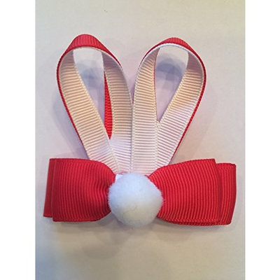 Easter Bunny Cotton Tail Red Hair Bow