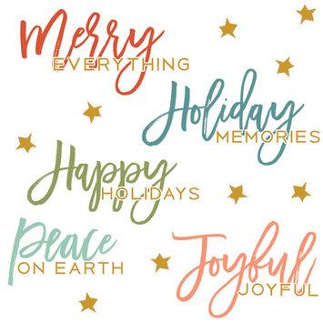 Merry & Bright Rub-Ons-Merry & Bright