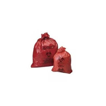 Bunzl Distribution BUN 61600015 30 x 37 in. 20-30 gal Red Biohazard Can Liner Case of 500