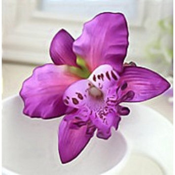 Set of 2 of same color Various Colors Orchid Flower Hair Clip/Barettes for Brides/Bridesmaids/Wedding/Sweet Sixteen