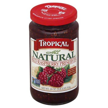 Tropical Preserving Tropical All Natural Red Raspberry Preserves