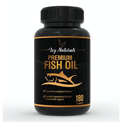 Fish Oil by Ivy Naturals || 120 Powerful Capsules || Packed with Premium Omega-3s, DHA, EPA || Promotes Heart Health || Supports Cell Growth and Metabolic Functions || 100% Satisfaction Guarantee