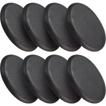 Ggi International 8 Piece Large Black Basalt Hot Stone