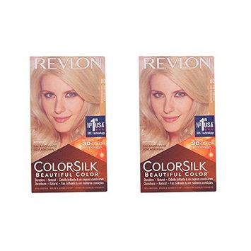 Revlon Colorsilk Beautiful Color, Medium Golden Chestnut Brown 46 1 ea (Pack of 2) + FREE Assorted Purse Kit/Cosmetic Bag Bonus Gift