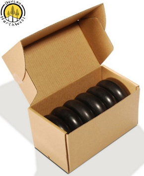 Devlon Northwest Hot Stone Massage 6 PC + Flat Circular Basalt Stone Set + 3.5x3.5x1.25