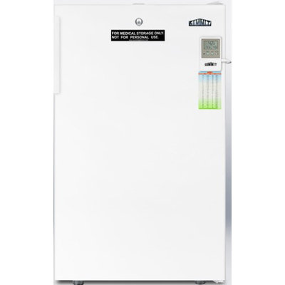 SUMMIT ADA compliant auto defrost all-refrigerator for medical use with alarm, lock, internal fan, and hospital grade cord