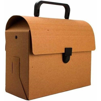 Jam Paper & Envelope Brown Kraft Lunchbox / Art Case with Handles (6x9x4) - Sold individually