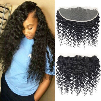Brazilian Deep Wave Bundles with Closure, UDU 9A Deep Curly Human Hair Bundles with Closure, Unprocessed Brazilian Virgin Hair 3 Bundles with Lace Closure 3 part (8 8 8 +8inch 50g/pc)