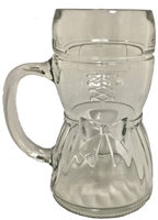Woman's Dirndl Dress Glass Drinking Beer Stein Mug Cup .5 L Made in Germany