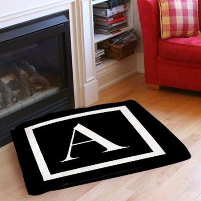 Manual Woodworkers & Weavers Classic Block Monogram Indoor/Outdoor Pet Bed