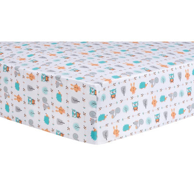 Test Trend Lab Forest Babies Fitted Crib Sheet, Multi-Colored