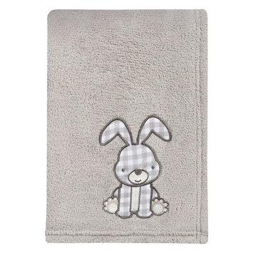 Test Trend Lab Gray Bunny Plush Baby Blanket