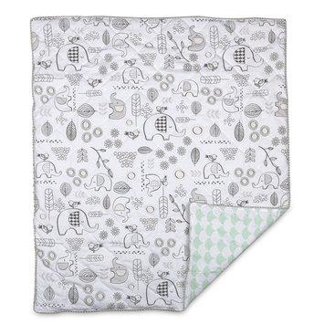 Lolli Living Kayden Elle Elephant Quilted Baby/Toddler Comforter, White