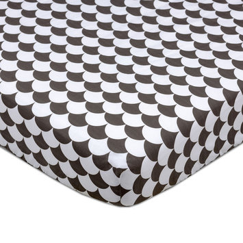 Lolli Living Kayden Black Scallops Fitted Crib Sheet One Size