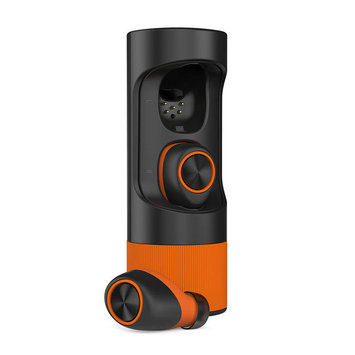 Motorola VerveOnes+ True Wireless Bluetooth Earbuds - Black + Orange