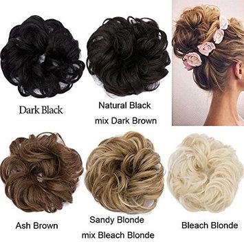 Hair Scrunchies Scrunchy Hair Bun Up Do Hair piece Ribbon Ponytail Hair Extensions Wavy Curly or Messy Verious Colors