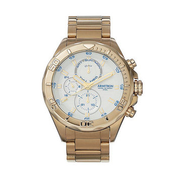 20/5178WTGP Men's Gold Tone White Dial Multifunction 100M WR Watch