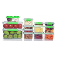Sistema Clear Green Food Container Set - 28pc, Medium Clear