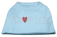 Mirage Pet Products 5202 XSBBL Adopted Rhinestone Shirt Baby Blue XS 8