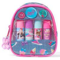 Girls 4-16 JoJo Siwa 4-pk. Lip Balms & Mini Backpack Carrying Case Set, Multicolor